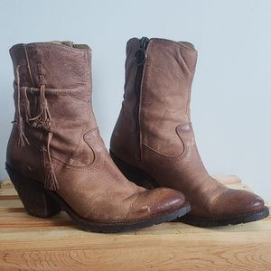 Justin Women's Leather Booties MSL101 Size 10